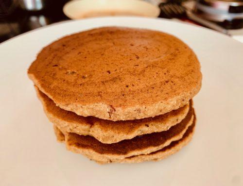Apple Banana Vegan and Gluten Free Pancakes