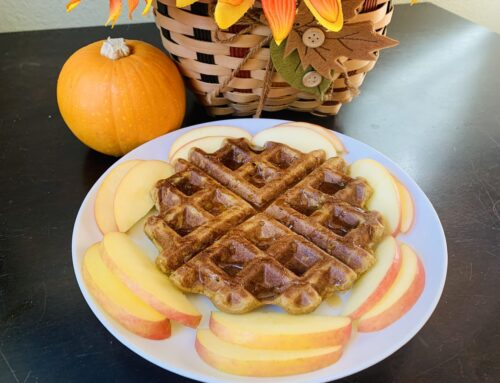 Pumpkin Spice Waffle – Gluten Free, Vegan, and Oil Free