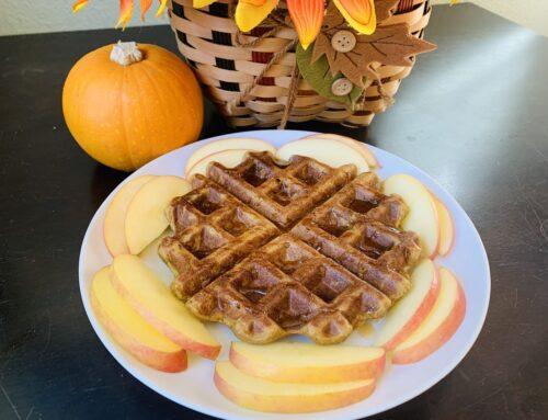 Pumpkin Spice Waffle – Gluten Free, Vegan, and Oil Free