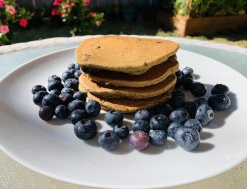 Vegan GF Blueberry Pancakes